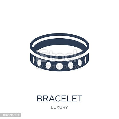 Bracelet icon. Trendy flat vector Bracelet icon on white background from Luxury collection, vector illustration can be use for web and mobile, eps10