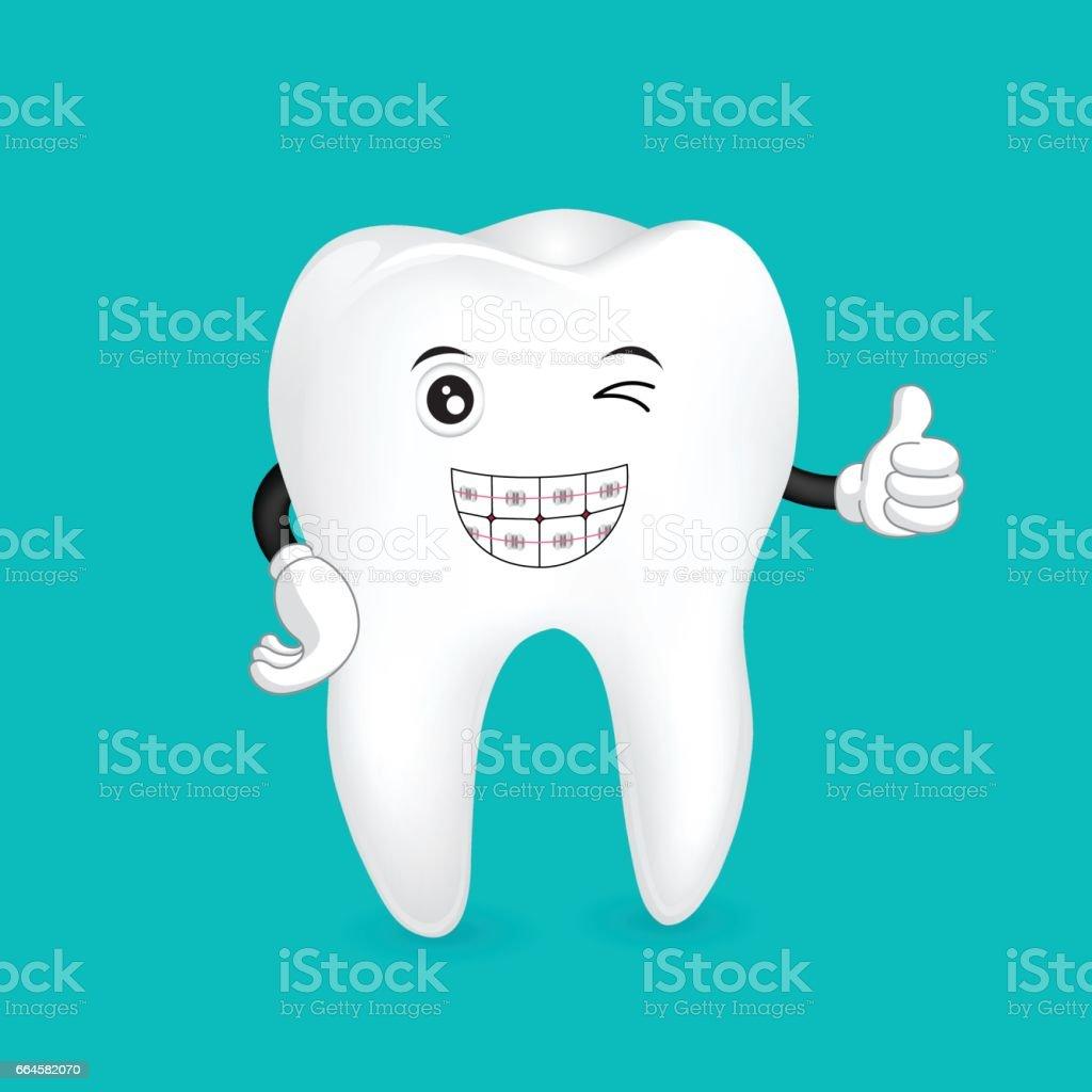 Zahnspangen Zahn Maskottchen Stock Vektor Art und mehr Bilder von ...