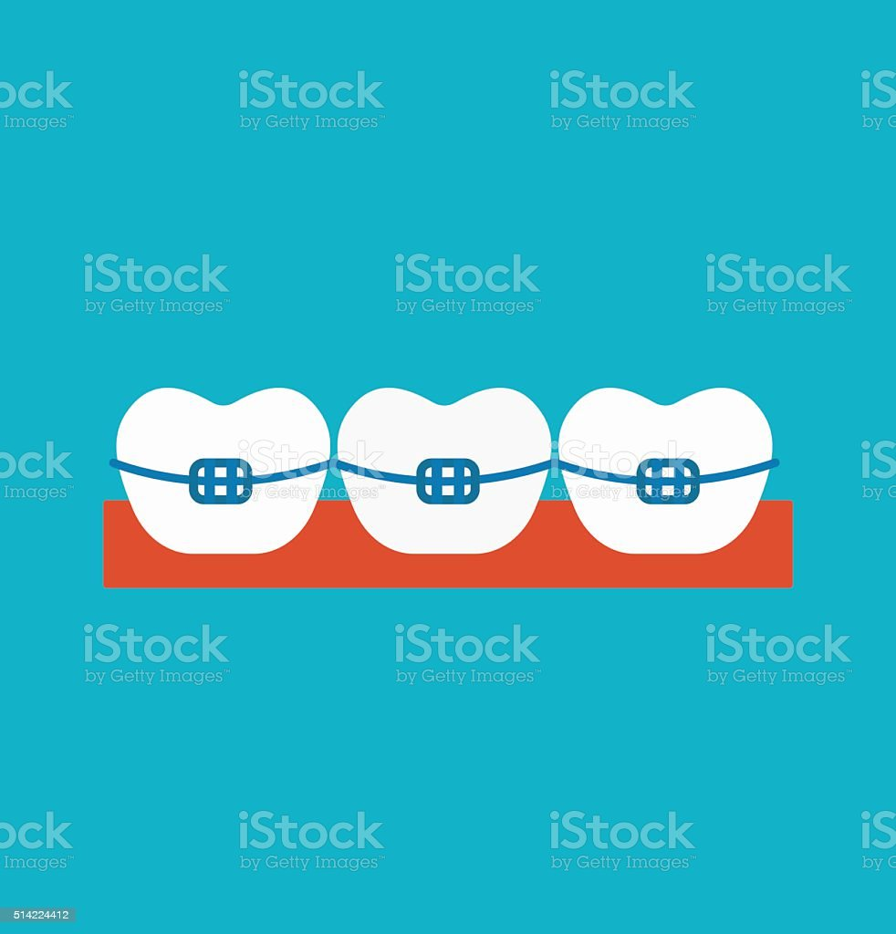 Braces vector illustration vector art illustration