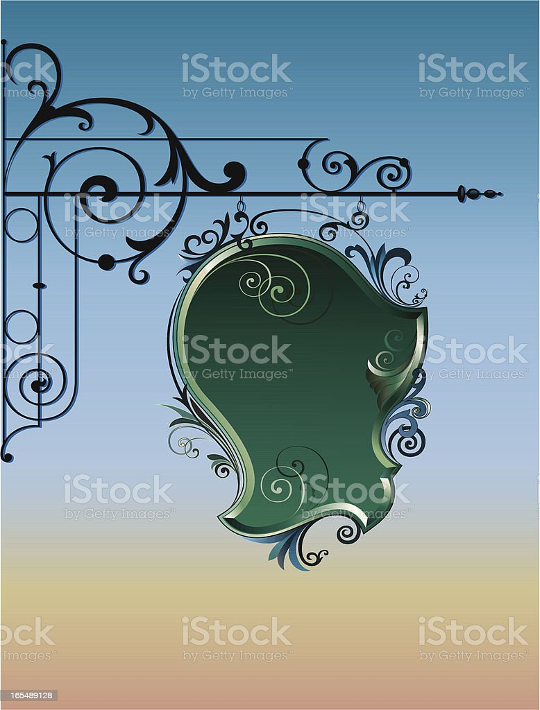 Bracket and SIgn Design vector art illustration