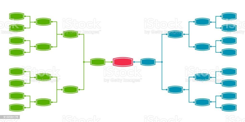 Bracket Tournament 16. Vector Illustration vector art illustration