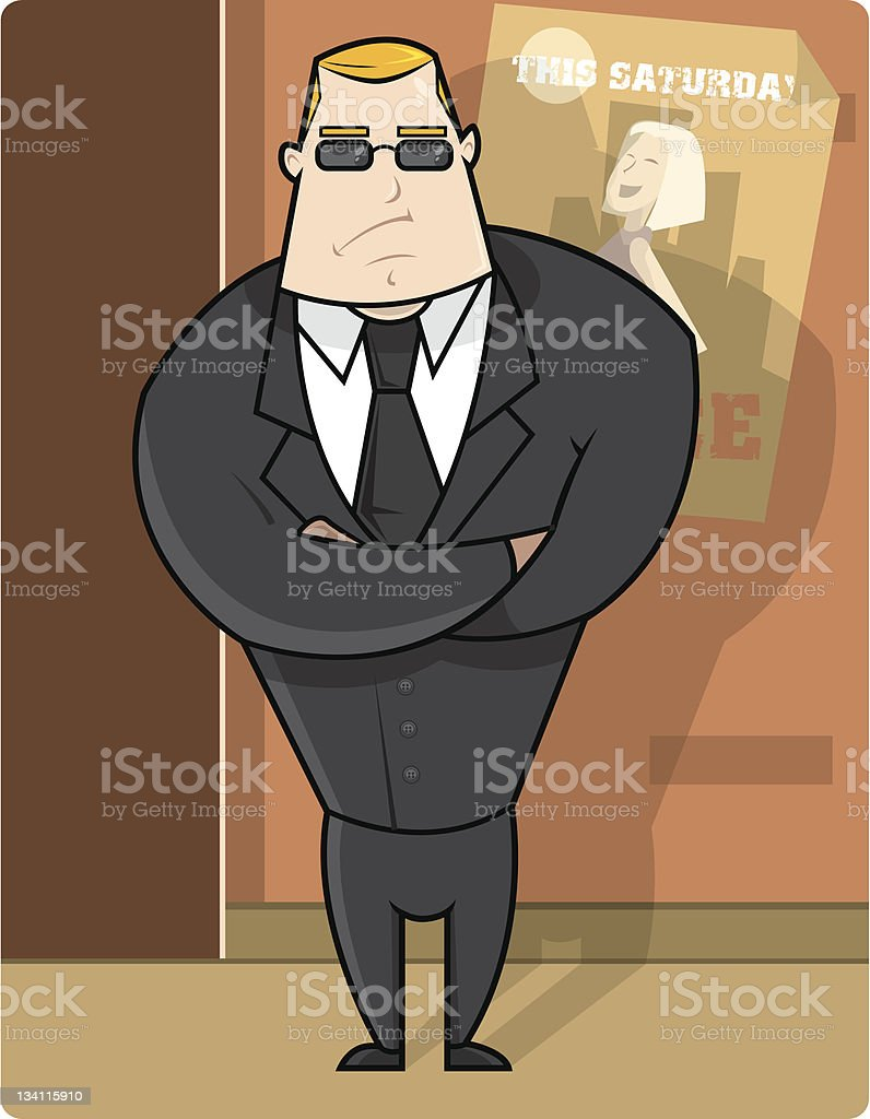 Brad the Bouncer royalty-free brad the bouncer stock vector art & more images of adult