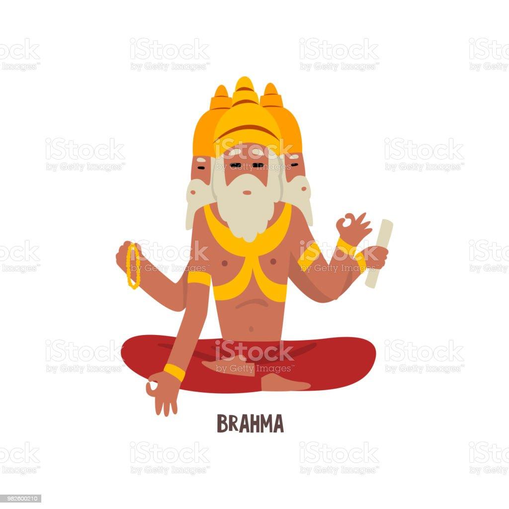 Vetores De Vetor De Personagem De Desenho Animado Deus Indiano De