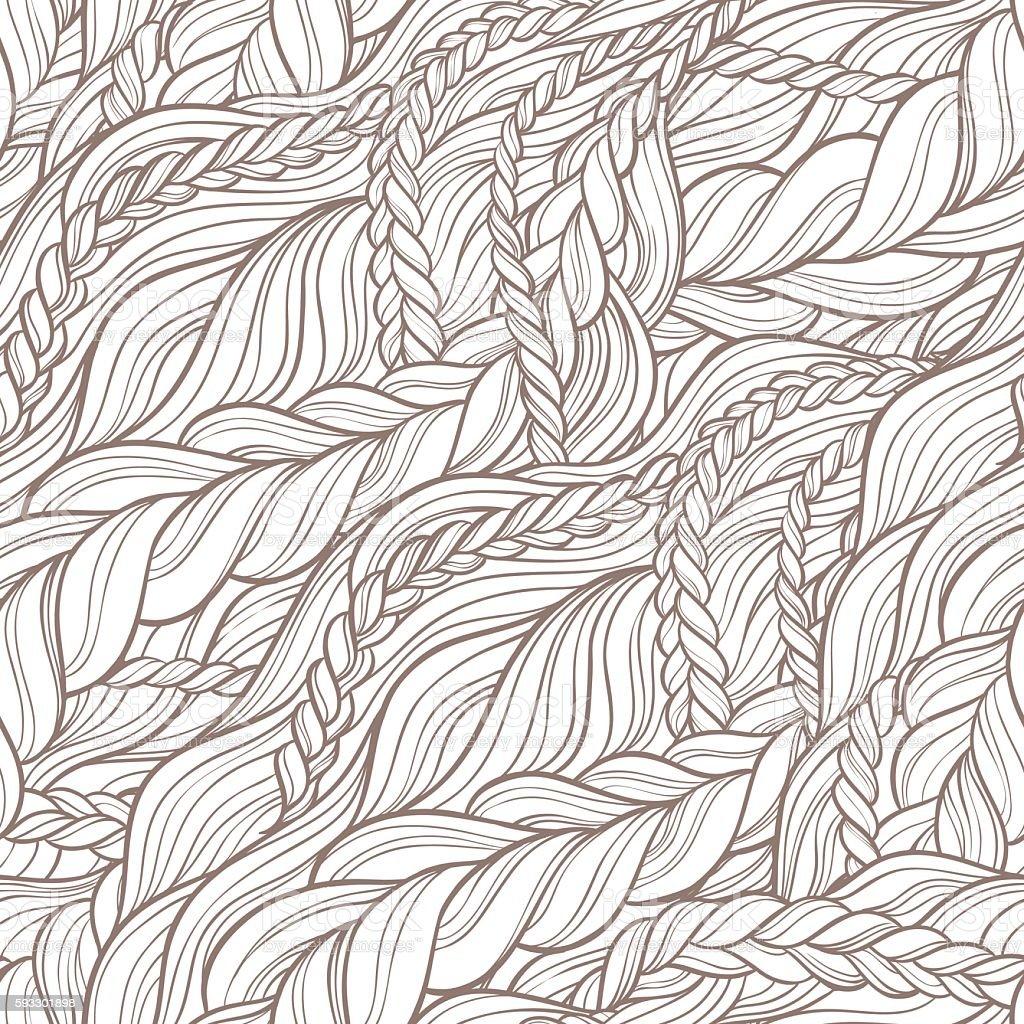 braid hair pattern vector art illustration