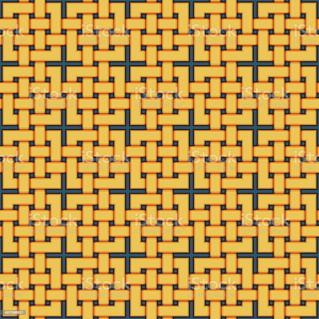 Braided pattern. Seamless background of wicker lines. royalty-free braided pattern seamless background of wicker lines stock vector art & more images of abstract