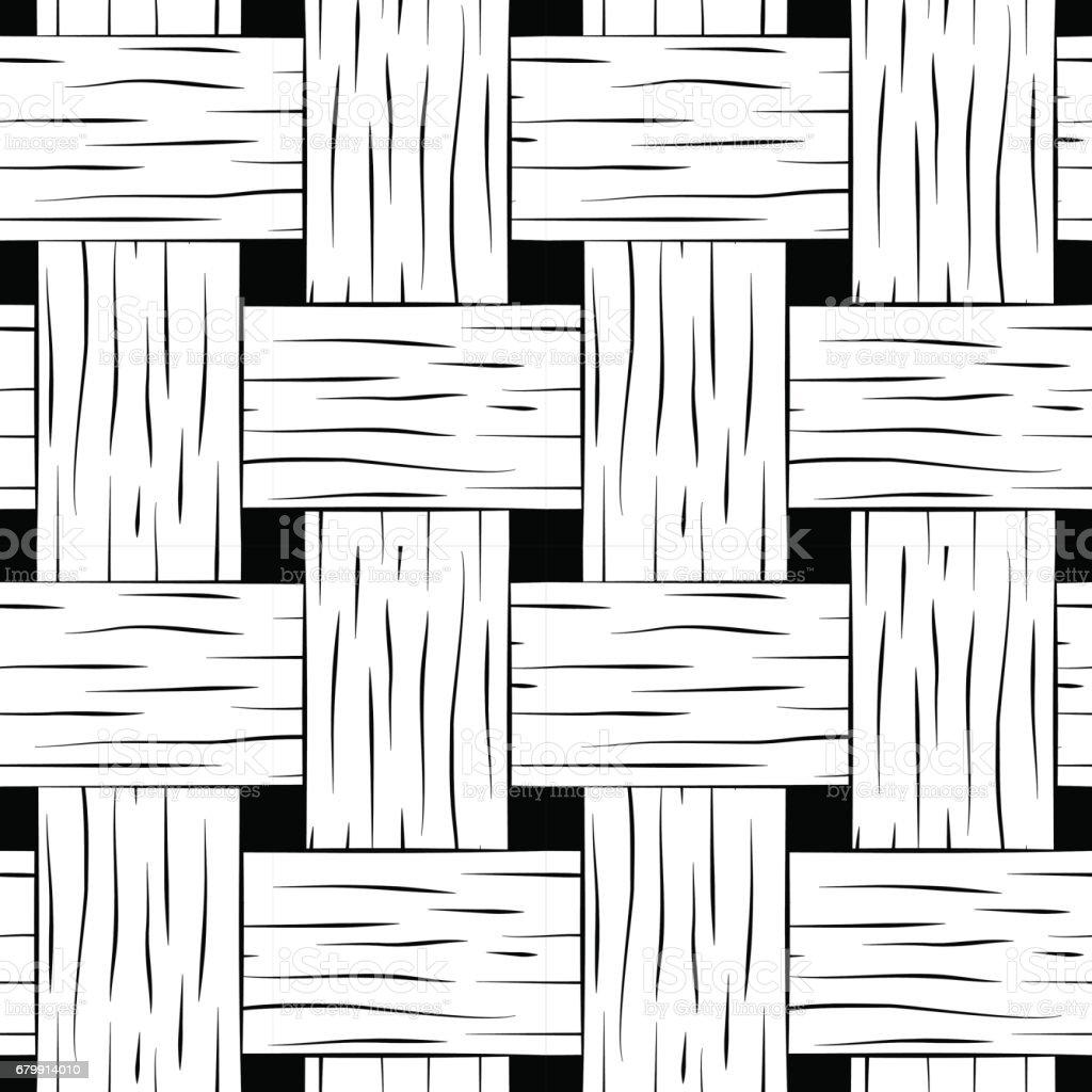 Ilustración de Trenzado De Patrones Sin Fisuras Blanco Y Negro Cesta ...
