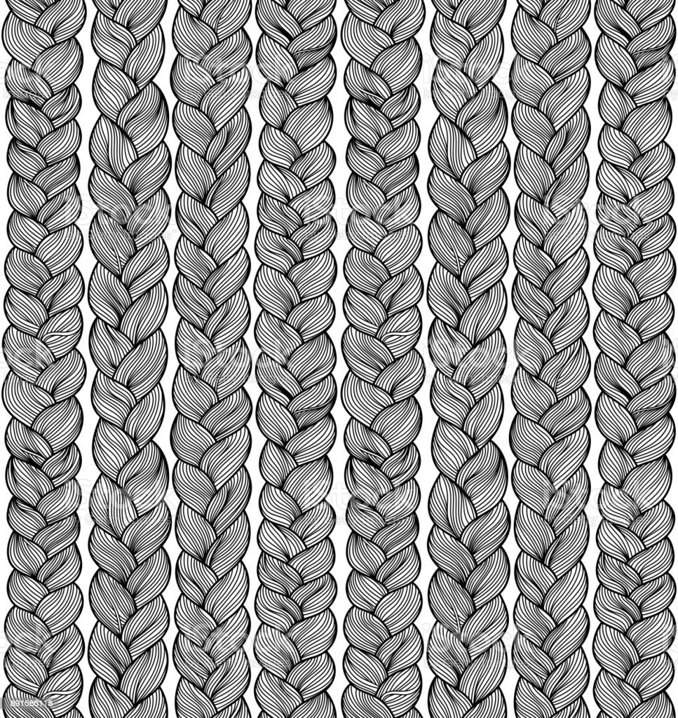 Braids vector art illustration