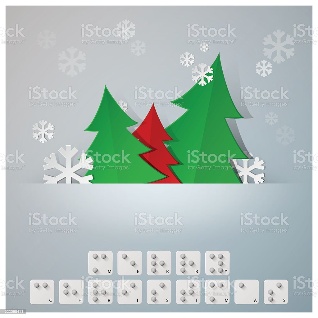 Braille Alphabet Christmas Background Banner With Paper Graphic ...