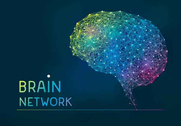 Brain abstract network banner vector art illustration