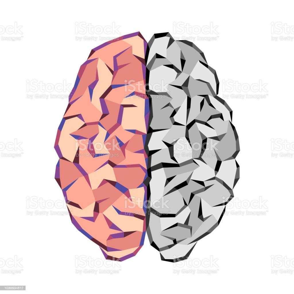 Brain abstract tringles - illustrazione arte vettoriale