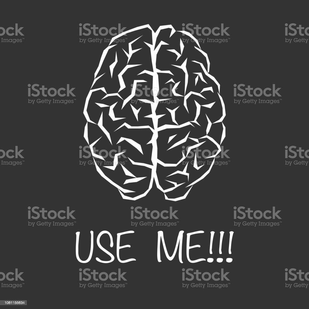 Brain abstract white - illustrazione arte vettoriale