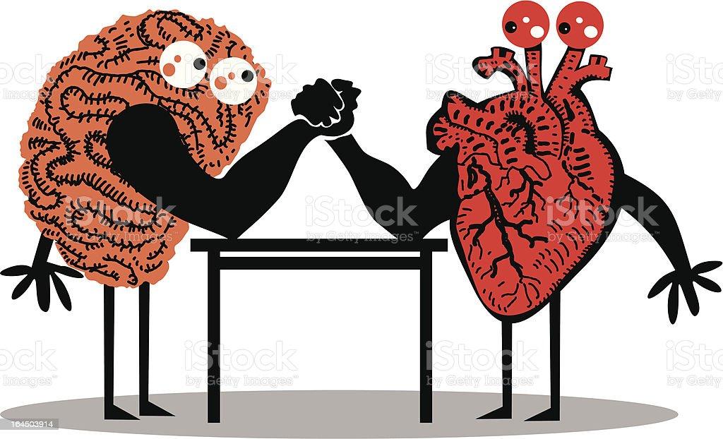 Brain and Heart vector art illustration
