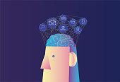 Human Body Part,Head,Human Face, Human Brain, Network, Big Data,