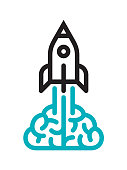 Startup icon. Files included: Vector EPS 10, HD JPEG 3000 x 4000 px