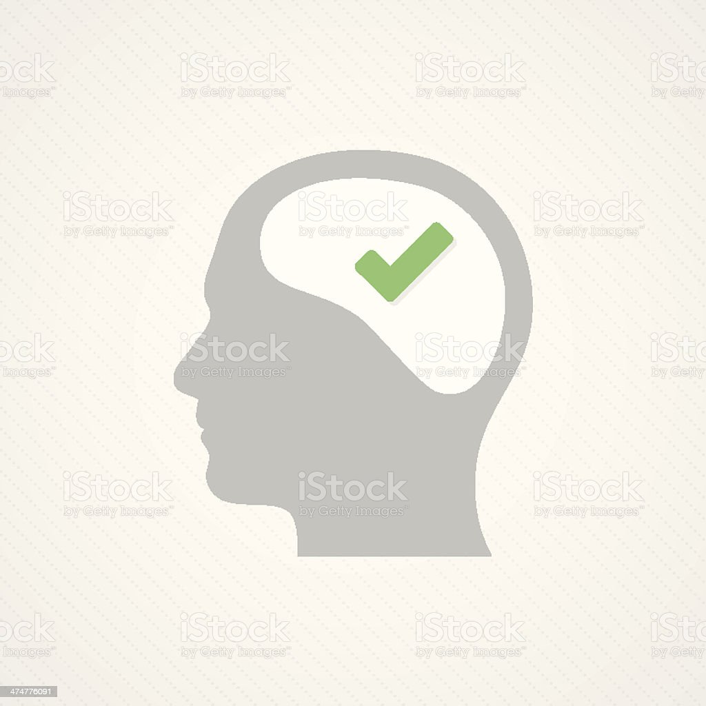 Brain and tick royalty-free stock vector art