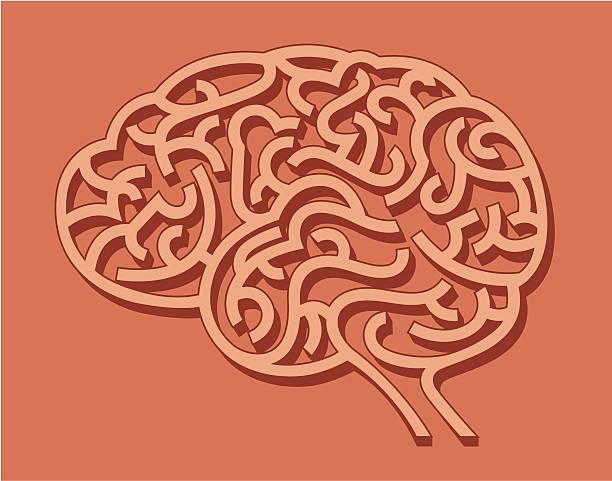 Mózg jako kostny. – artystyczna grafika wektorowa
