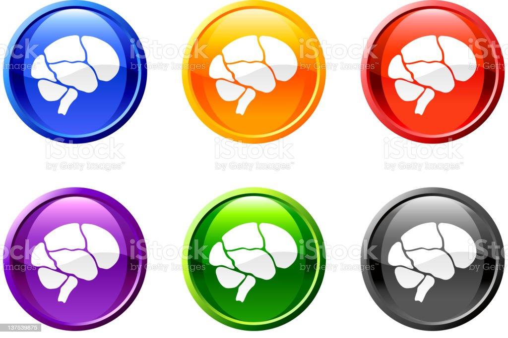 Brain button royalty free vector art vector art illustration