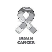 Brain cancer awareness paper cut ribbon