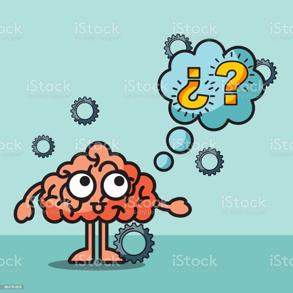 brain cartoon confused questions mak speech bubble royalty-free brain cartoon confused questions mak speech bubble stock vector art & more images of anatomy