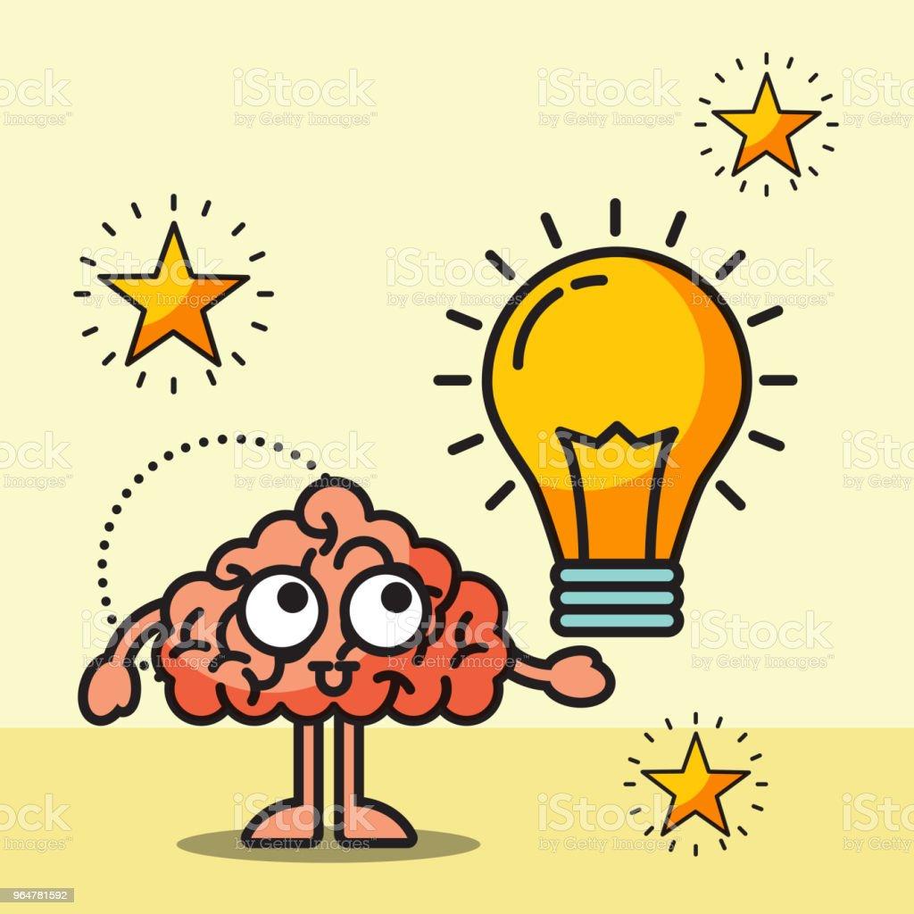 brain cartoon creative bulb idea royalty-free brain cartoon creative bulb idea stock vector art & more images of brainstorming
