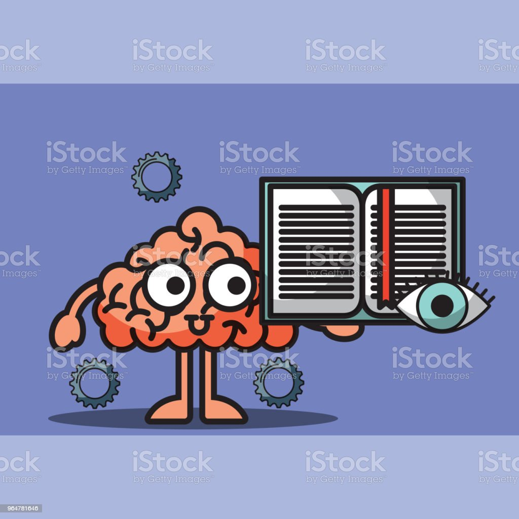 brain cartoon holding book learn idea royalty-free brain cartoon holding book learn idea stock vector art & more images of book