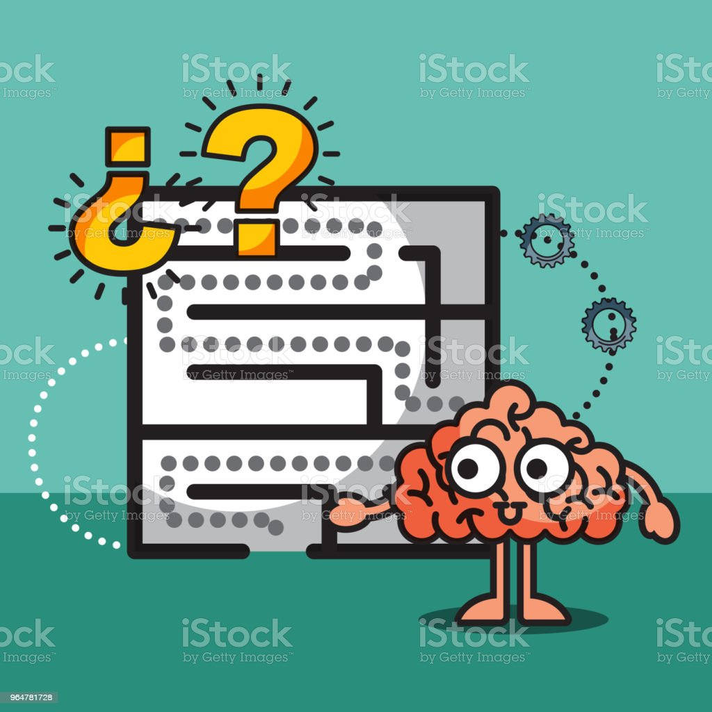 brain cartoon labyrinth creative idea solution royalty-free brain cartoon labyrinth creative idea solution stock illustration - download image now