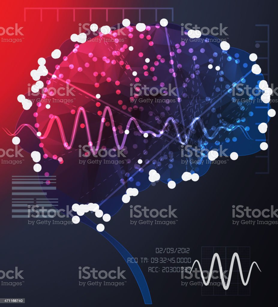 Brain Cell Communication vector art illustration