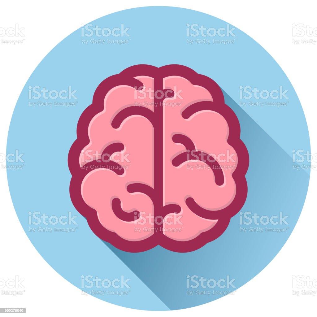 brain circle blue flat icon royalty-free brain circle blue flat icon stock vector art & more images of anatomy
