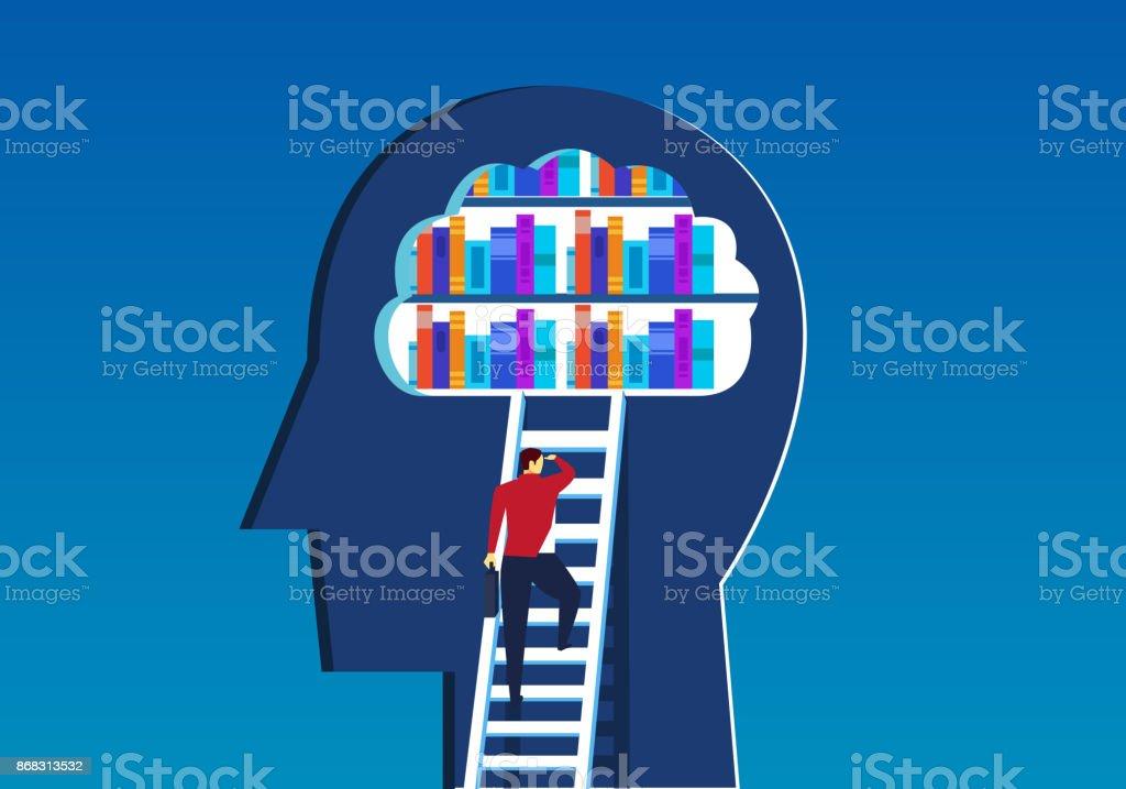 Brain cloud reserves vector art illustration
