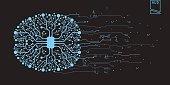 Brain concept futuristic virtual graphic touch user
