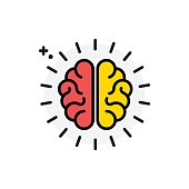 Brain concept Isolated Line Vector Illustration editable Icon