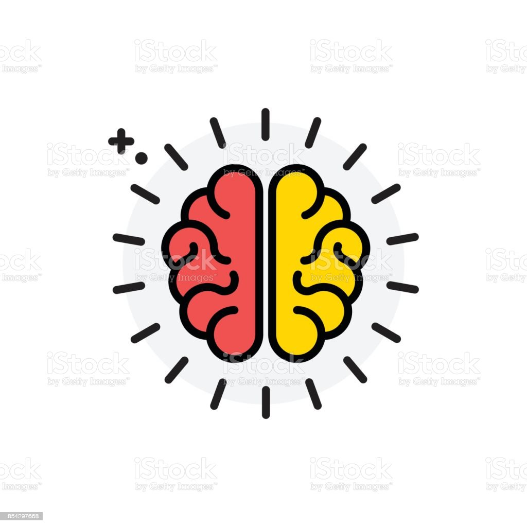 Brain concept Isolated Line Vector Illustration editable Icon vector art illustration