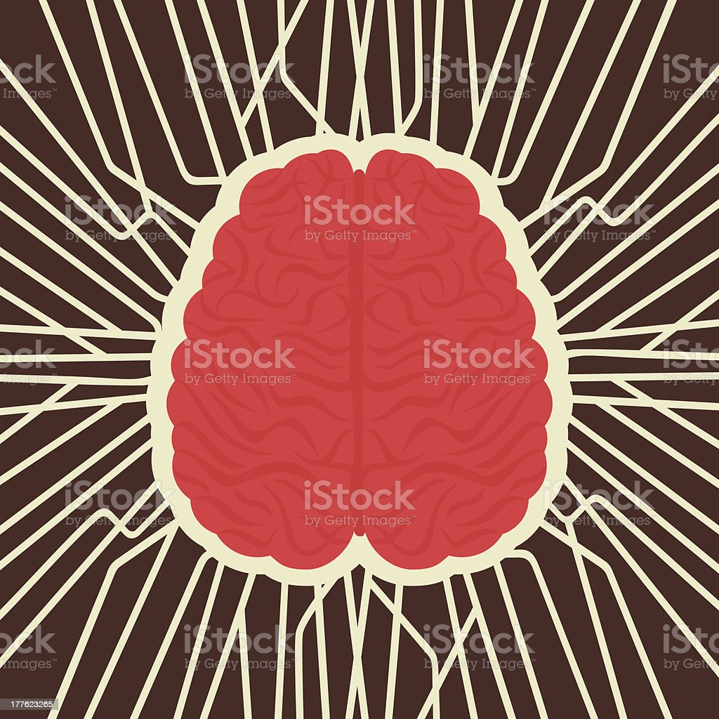 brain connection royalty-free stock vector art
