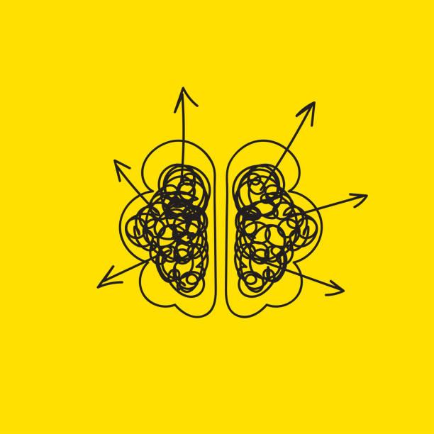 cérebro criando ideias - ilustração de arte em vetor