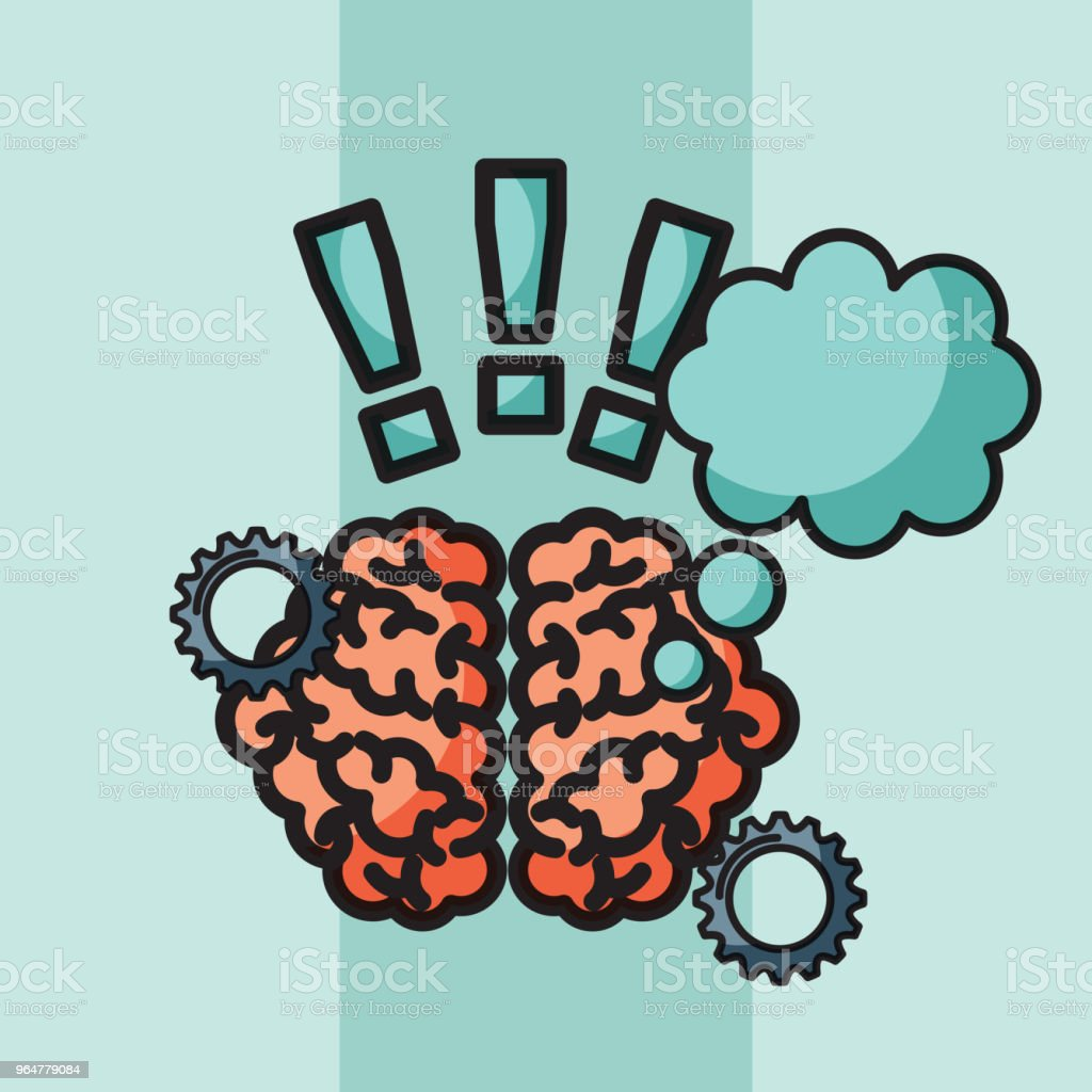 brain creative idea thinking exclamation symbol royalty-free brain creative idea thinking exclamation symbol stock vector art & more images of abstract
