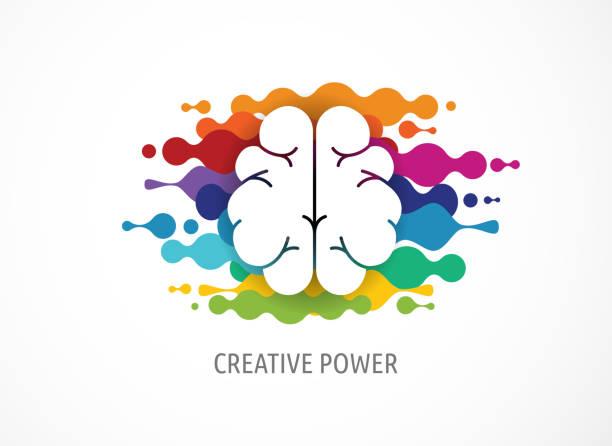 Brain, Creative mind, learning and design icons. Man head, people symbols vector art illustration