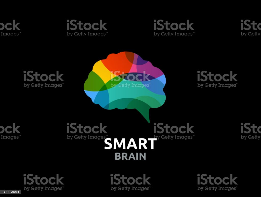 Brain, Creative mind, man head, learning and design icon vector art illustration