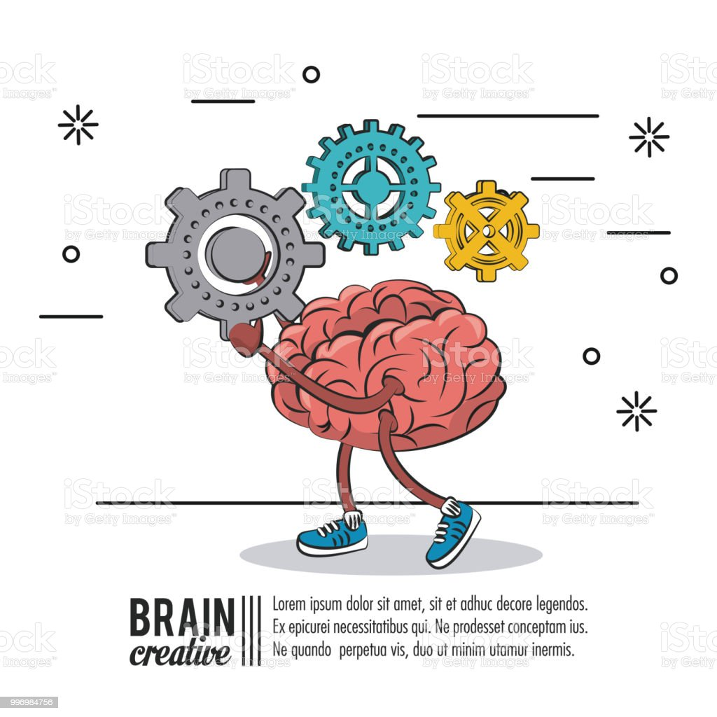 Brain Creative Poster Stock Vector Art & More Images of Abstract ...