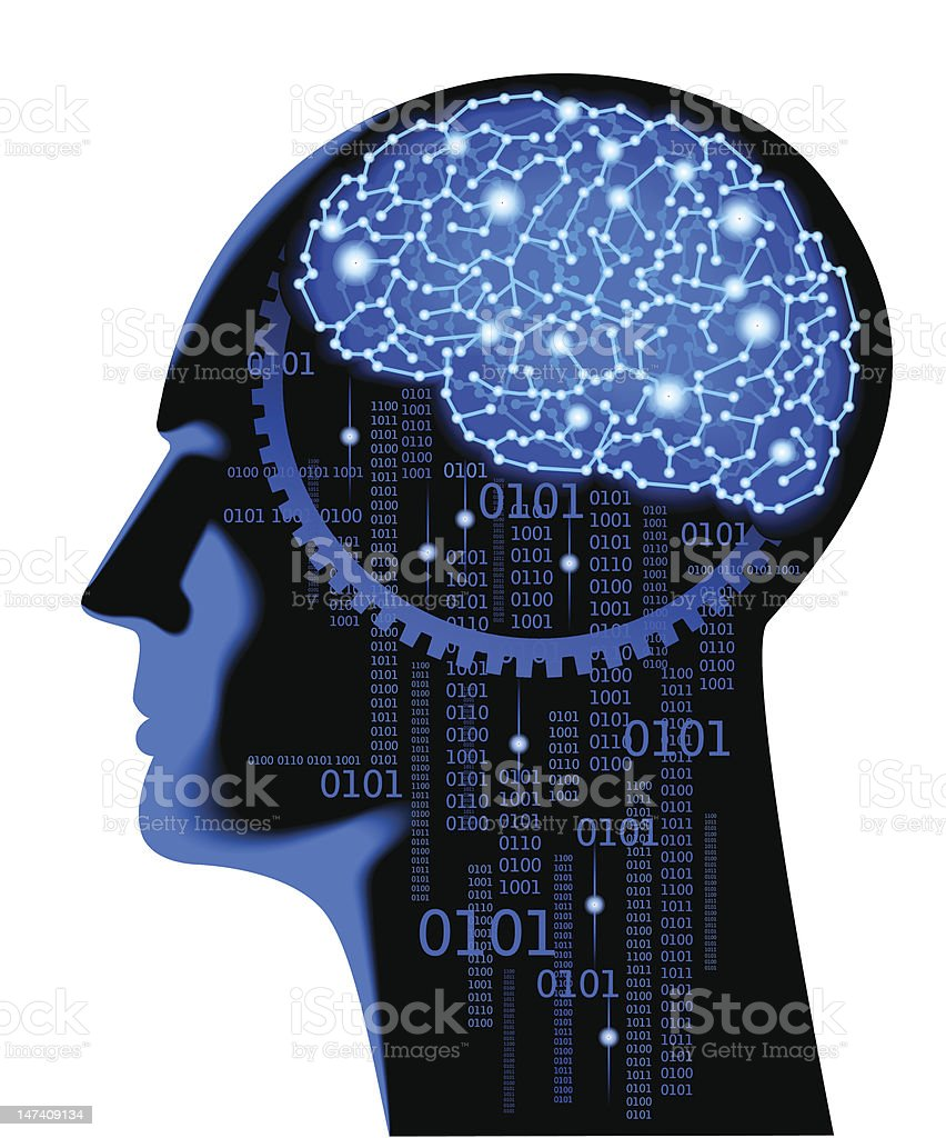 brain cyber royalty-free stock vector art