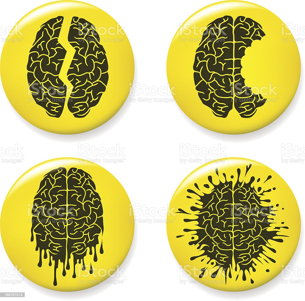 Brain damage pins royalty-free stock vector art
