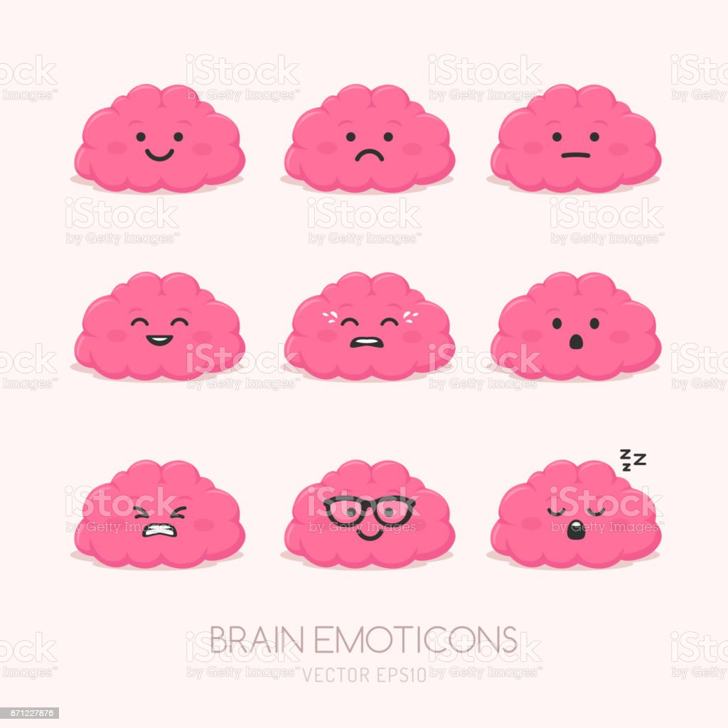 Brain Emotions vector art illustration