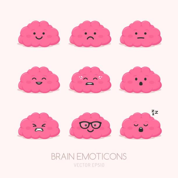 Emociones del cerebro - ilustración de arte vectorial