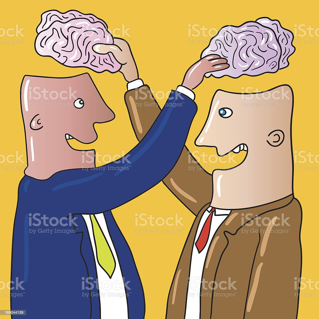 brain exchange royalty-free stock vector art
