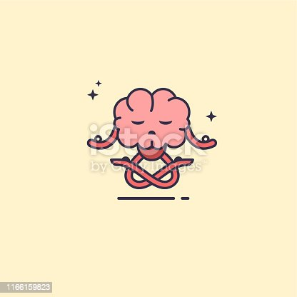 istock Brain exercising yoga. 1166159823