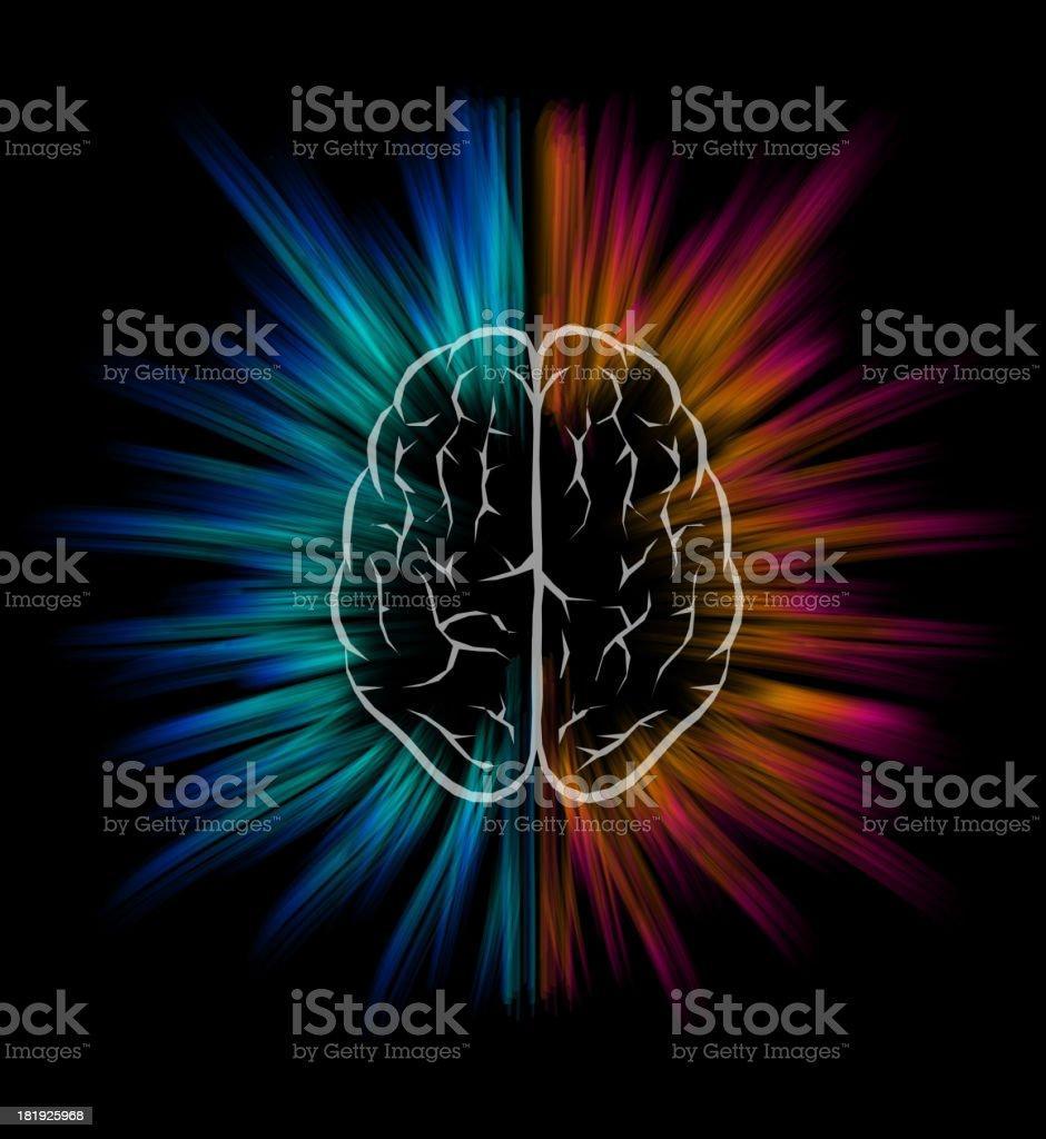 Brain explosion. royalty-free stock vector art