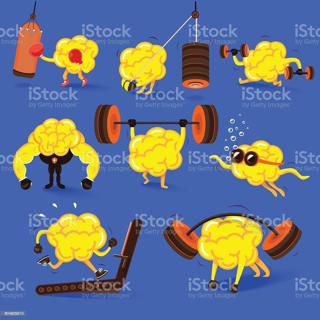 Brain Fitness vector art illustration