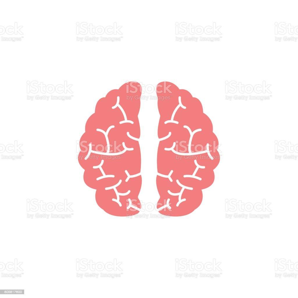 Brain flat icon, Medical and school element - illustrazione arte vettoriale