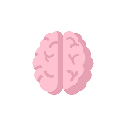 Brain Flat Icon. Pixel Perfect. For Mobile and Web.