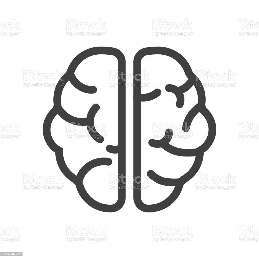 Brain flat icon - illustrazione arte vettoriale