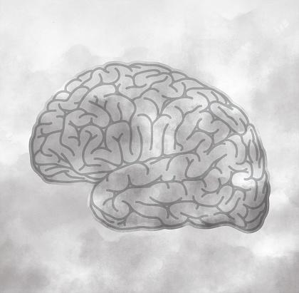Brain Fog Mental Fatigue Memory Loss Confusion Concept Illustration